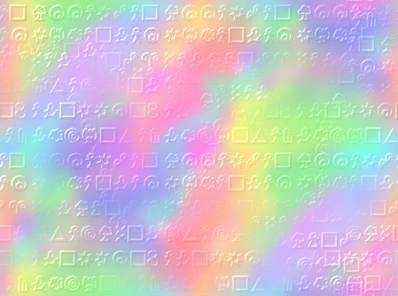 Neon paper with Genius Symbols structure background texture