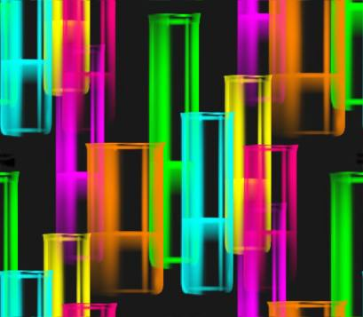 Neon glass test tubes large background fill