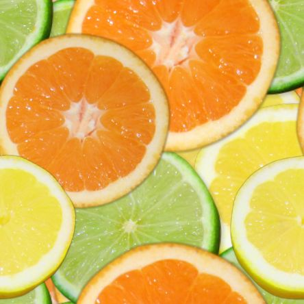 Citrus slices seamless repeating background fill tile texture