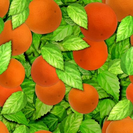 Orange tree seamless repeating background image