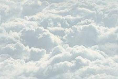 White clouds sea of clouds seamless repeating tile