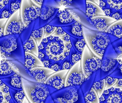 Fractal Blue Lace seamless repeating background fill tile texture