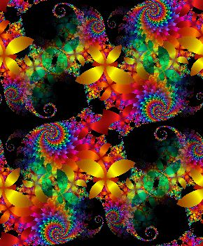 Fractal Paradise seamless repeating background