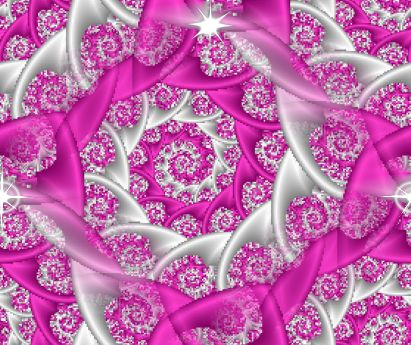 Fractal Pink Lace Spiral seamless repeating background