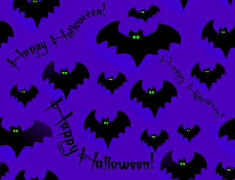 Halloween Bats Seamless Repeating Background Image