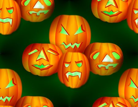 Halloween Green Background