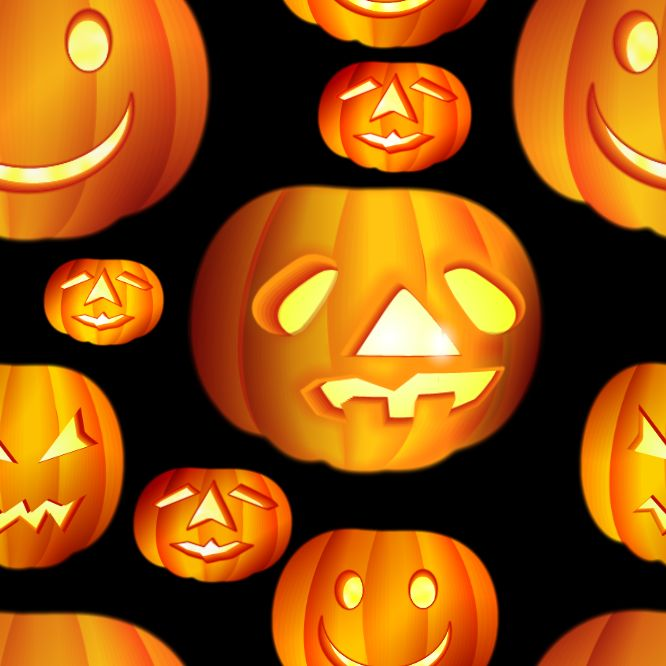 Halloween Pumpkins Large Seamless Background