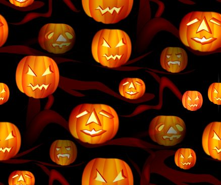 Halloween Pumpkins Spooky Tree background