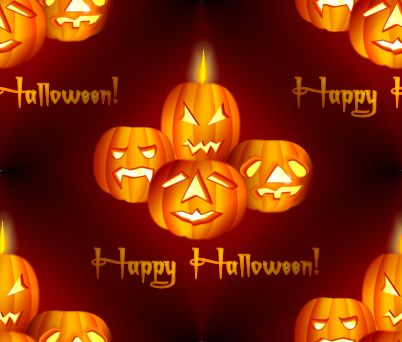 Happy Halloween Red Seamless Background