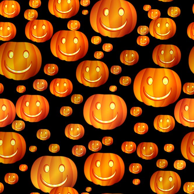 Halloween Smilies 666 x 666 Seamless Background