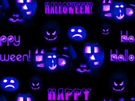 Happy Halloween Purple Seamless Repeating Background Image