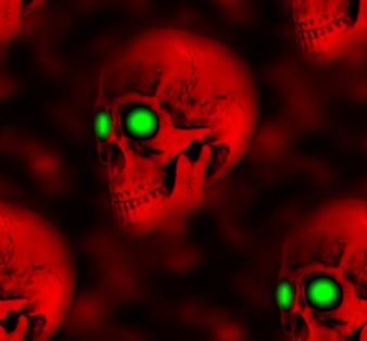Spooky Skulls Halloween Seamless Repeating Background Image