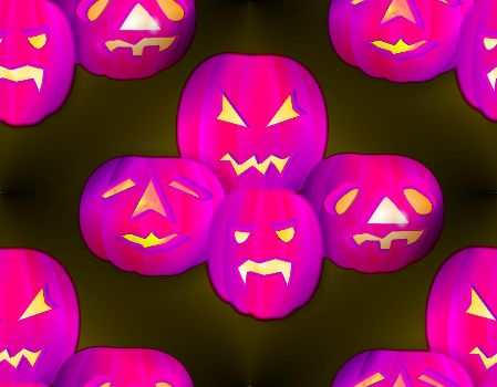 Spooky Purple Halloween Background