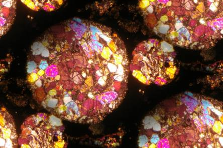 Meteorite Chondrules Seamless Background