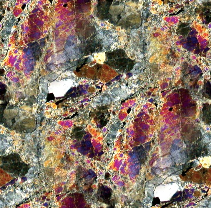 Meteorite Polarized Thin Section Background Image