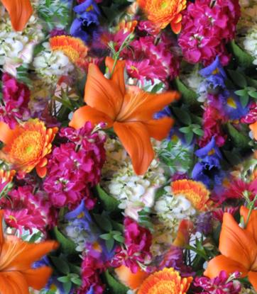 Colorful Flowers Mixed Flower Bouquet Seamless Background Tile