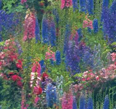 Country Garden - Seamless Repeating Flower Textures & Fills