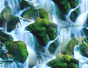 Waterfall Tile Small Seamless Background