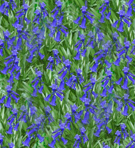 Bluebells Seamless Repeating Background Image