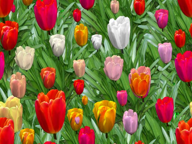 Tulips Seamless Repeating Background Image