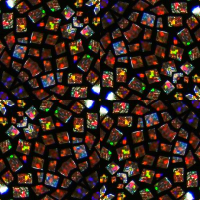 Stained glass mosaic seamless repeating background fill