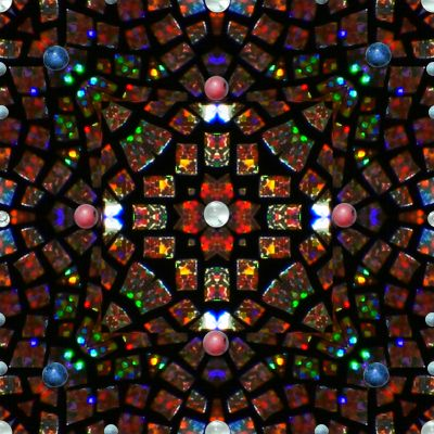 Stained Glass Inspired Mandala Backgrounds