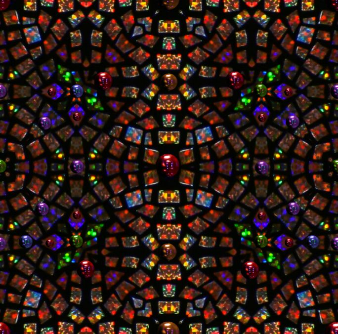 Very large stained glass mandala background