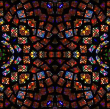 Stained glass modern seamless repeating background tile