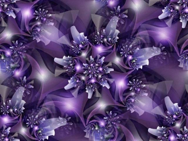 Ultraviolet fractal flowers