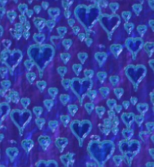 Ultraviolet and turquoise hearts seamless repeating background image