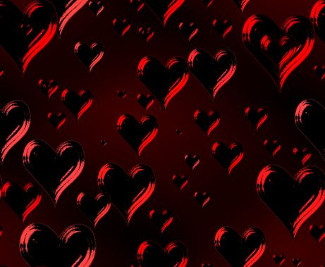 Dark Hearts Valentines Red Seamless Repeating Background Image
