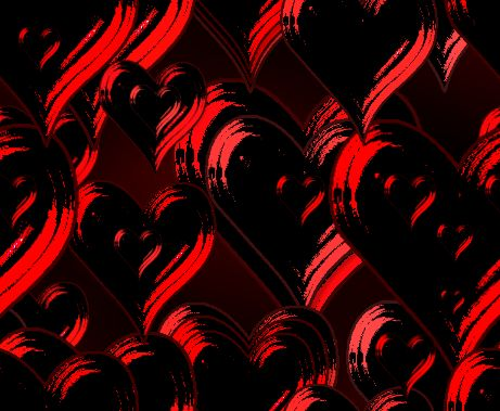 Dark Hearts Large Valentines Seamless Repeating Background Image