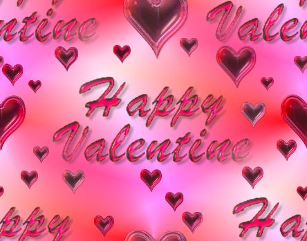 Happy Valentine Pink Seamless Repeating Background Image
