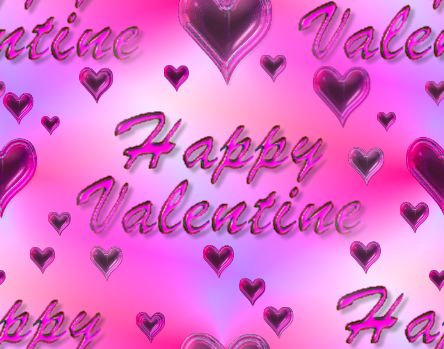 Happy Valentine 2 Seamless Repeating Background Image