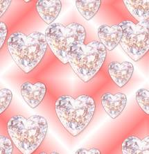 Diamond Hearts Pink Valentines Seamless Repeating Background Image
