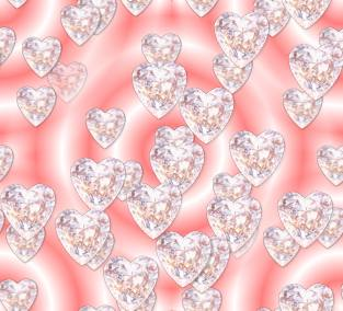 Diamond Hearts Pink 2 Seamless Repeating Background Image