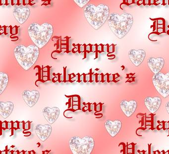 Diamond Hearts Pink Valentines Day Seamless Repeating Background Image