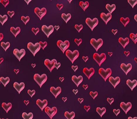 Valentines Background Pink Glass Hearts