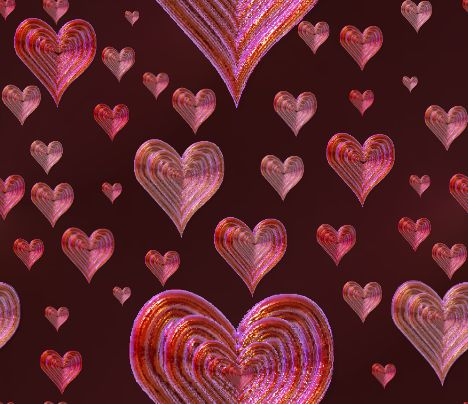 Valentines Chocolate Hearts Background