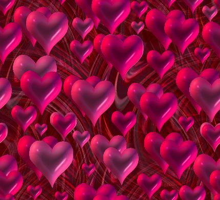 Valentines Heart Storm Seamless Repeating Background Image