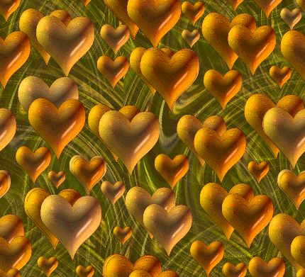 Valentines Hearts Of Gold Seamless Repeating Background Image