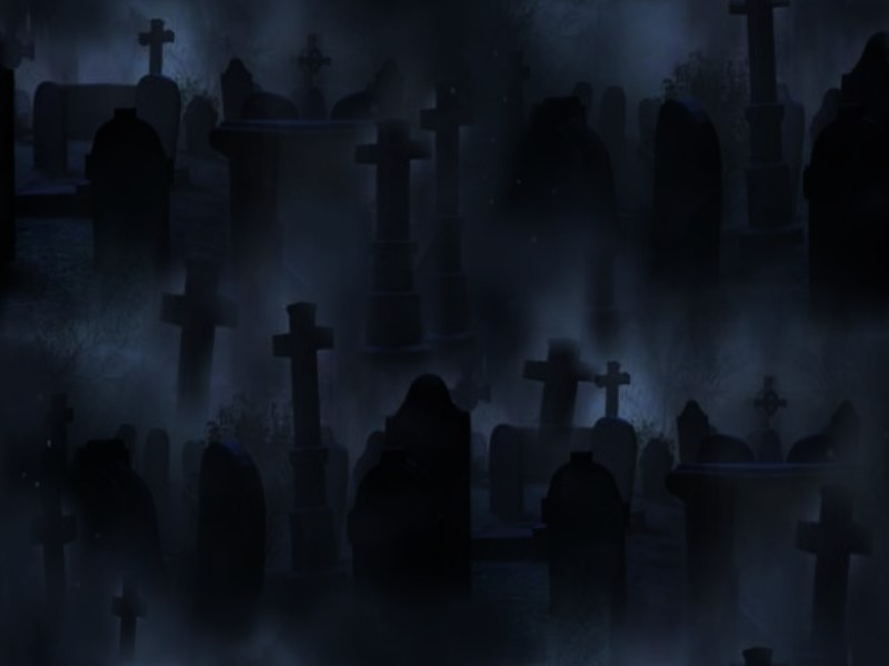 Graveyard Seamless Repeating Background Image Black Dark