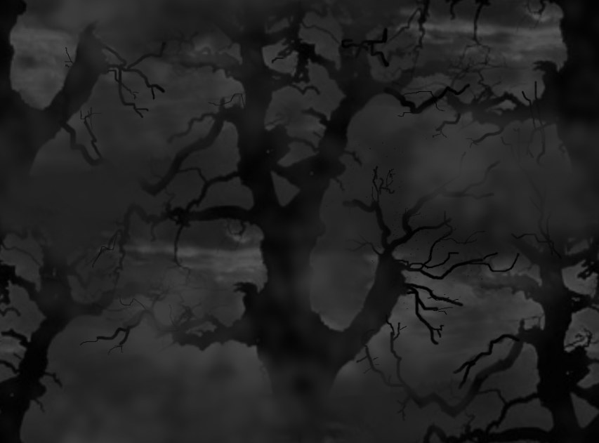 Spooky Tree Large Seamless Repeating Background Image Black