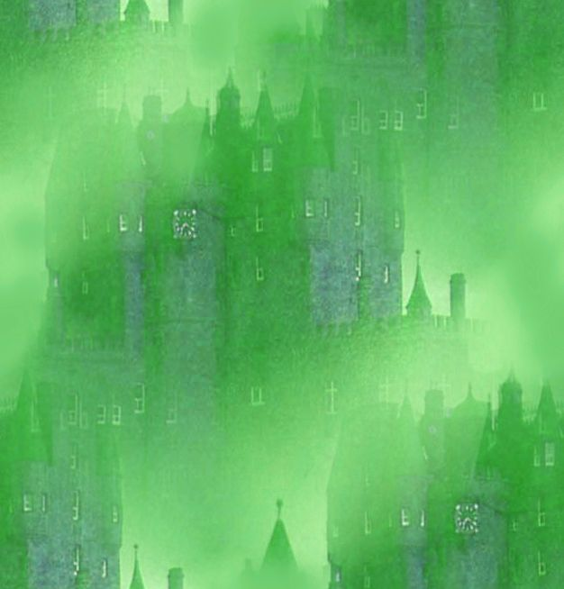 Vampire Background Misty Green Castle Seamless