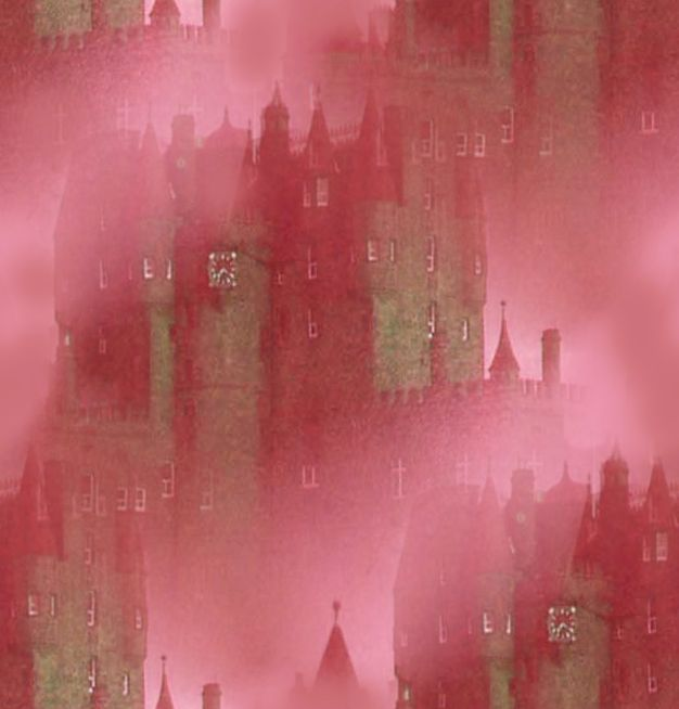 Vampire Background Misty Rose Castle Seamless