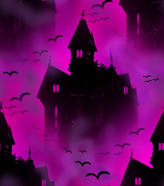 Vampire Castle Rose Seamless Repeating Background Image