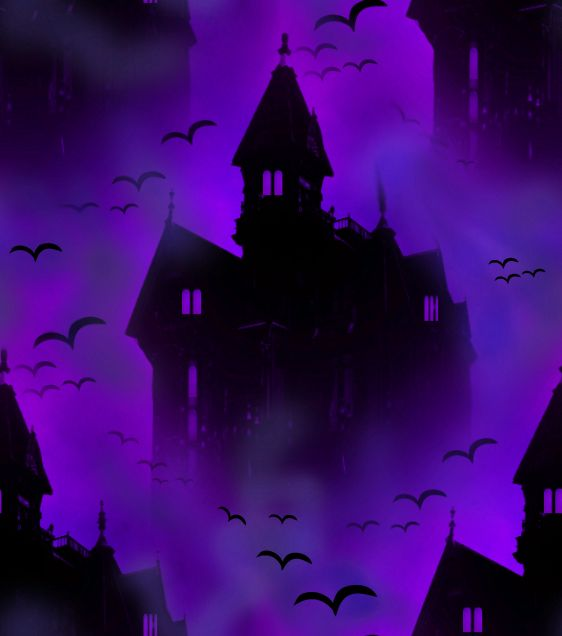 Vampire Castle Ultraviolet Seamless Repeating Background Image