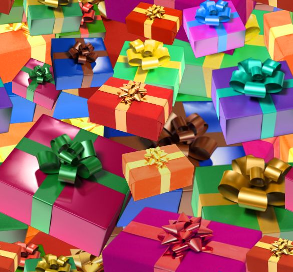 Christmas Presents Colorful Seamless Repeating Background Image