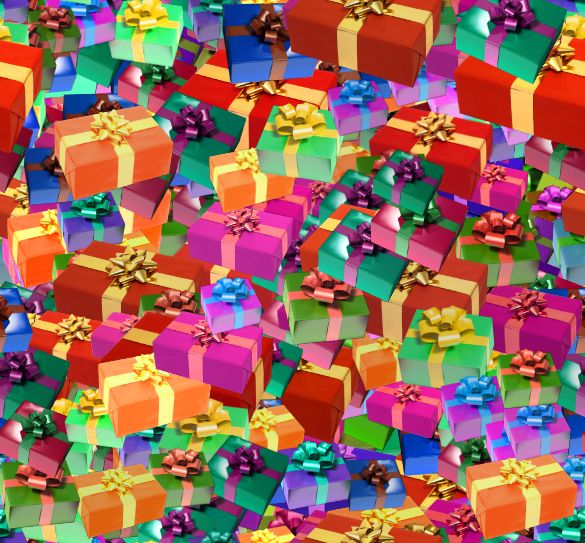 Christmas Presents Colorful Small Seamless Repeating Background Image