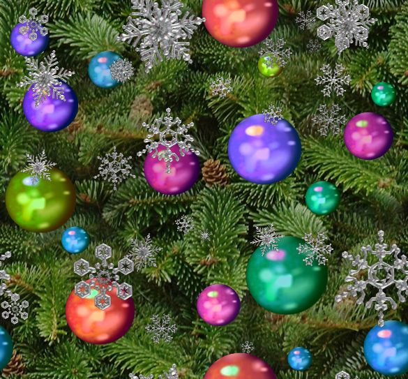 Christmas Tree Seamless Repeating Background Image